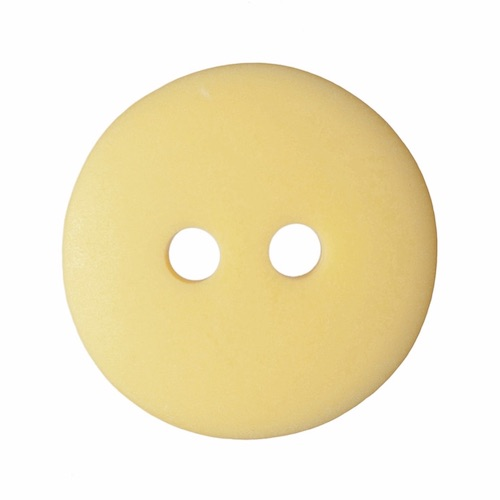 Trimits Matt Smartie Button 15mm Yellow