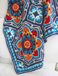 Jane Crow Crochet Pattern - Persian Tiles Blanket