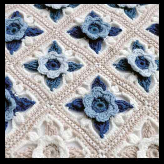 Jane Crow Crochet Pattern - Willow Blossom Cot Blanket