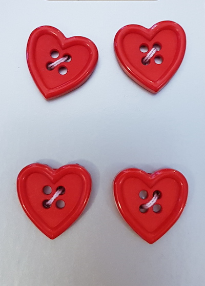 King Cole Carded Buttons 060 Red Heart