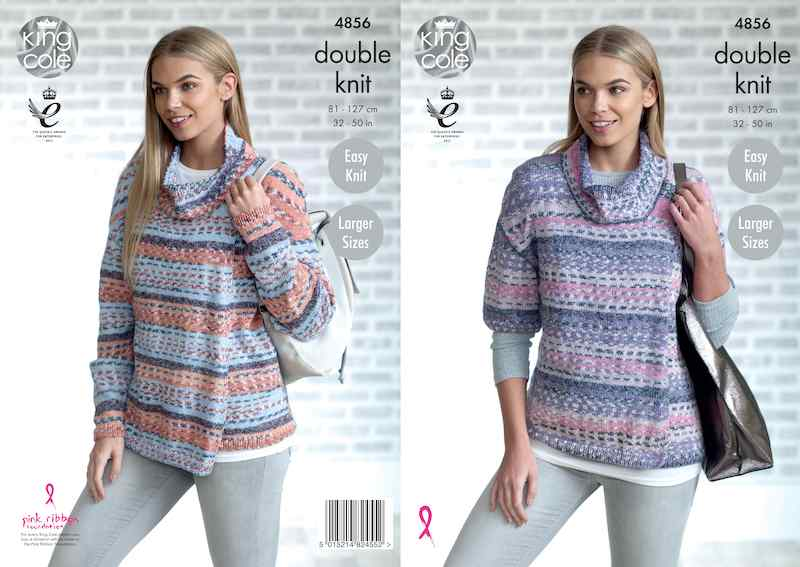 King Cole Pattern No. 4856 Ladies' Cardigan (DK)