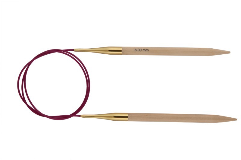 Knit Pro Basix Birch Fixed Circular Needle 10mm x 80cm