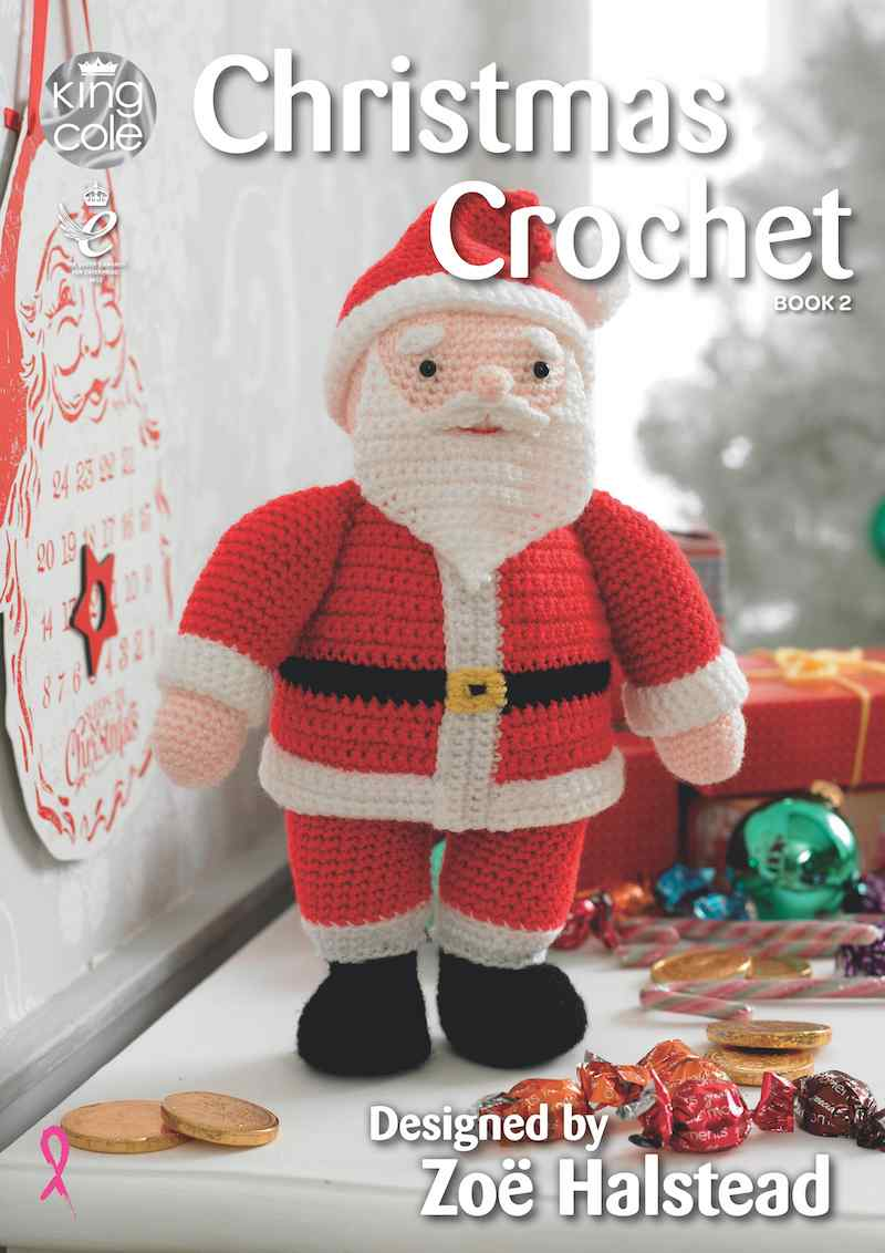 King Cole Christmas Crochet Book 2 designed by Zoe Halstead