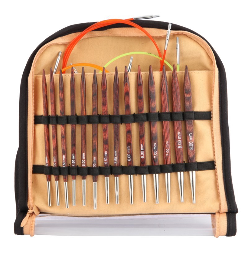 Knit Pro Cubics Symfonie Rose Deluxe Interchangeable Needle Set