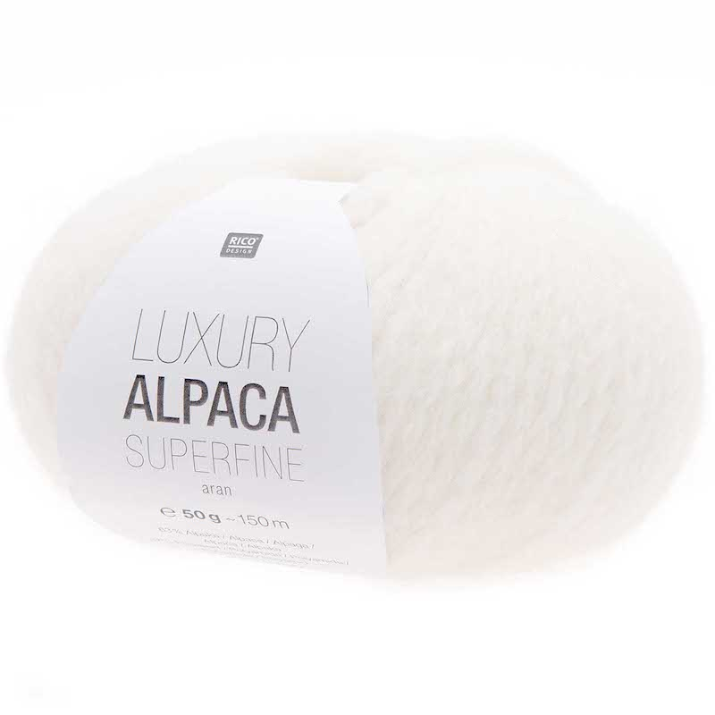 Rico Luxury Alpaca Superfine Aran 001 Cream