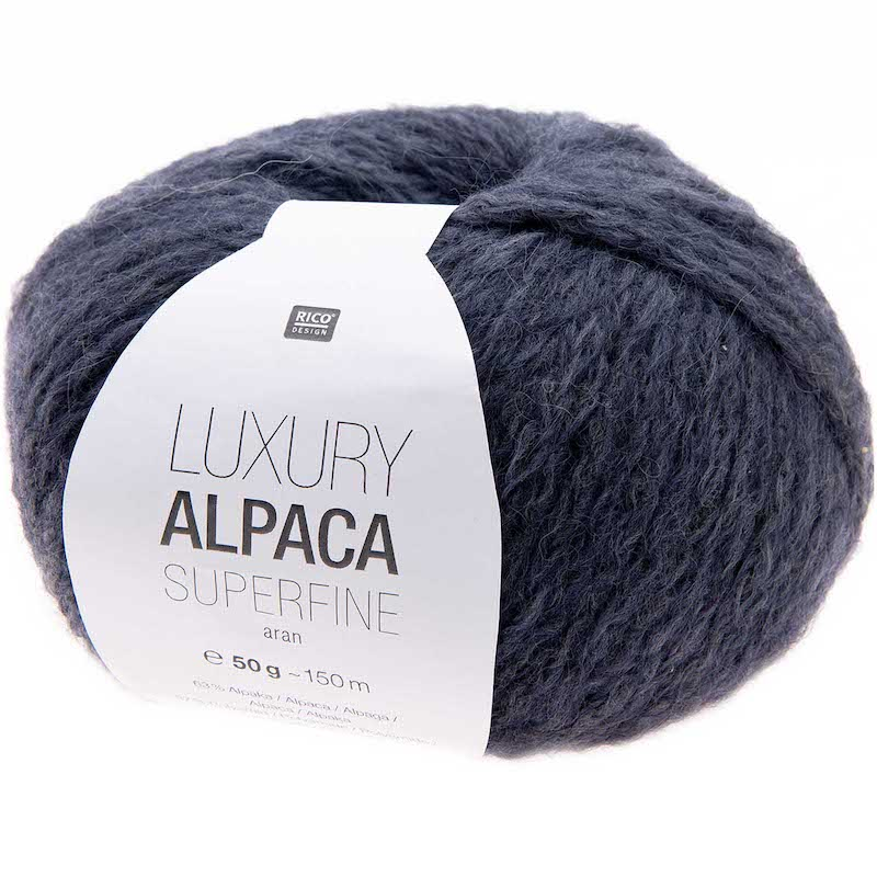 Rico Luxury Alpaca Superfine Aran 009 Blue