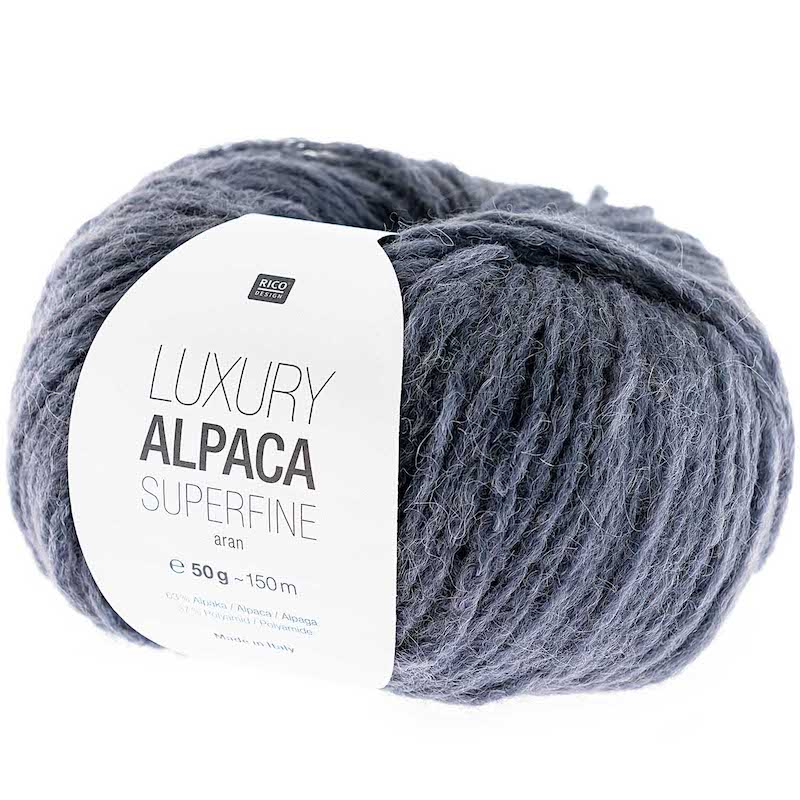 Rico Luxury Alpaca Superfine Aran 017 Blue/Grey