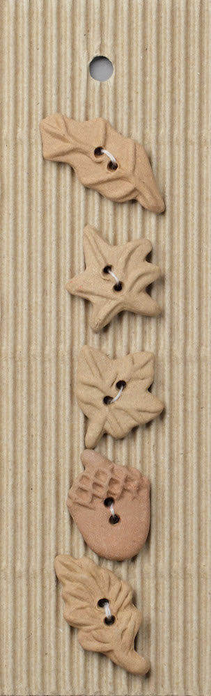 Incomparable Buttons L106 5 Autumn Leaf Buttons