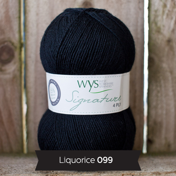 WYS Signature 4 ply Sweet Shop Range 099 Liquorice