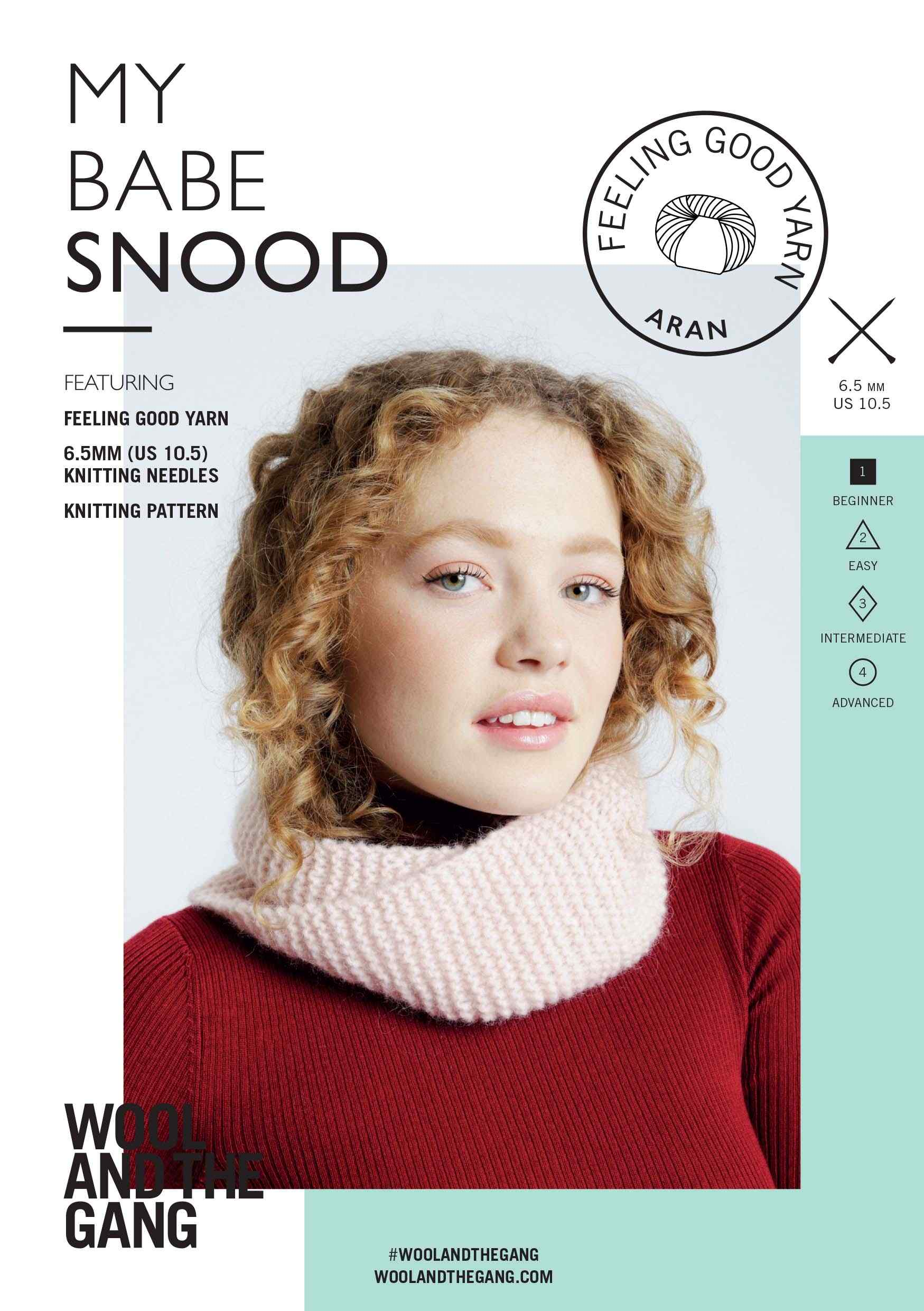 WATG My Babe Snood Knitting Pattern