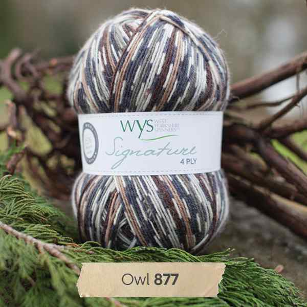 WYS Signature 4ply Country Birds Owl 877