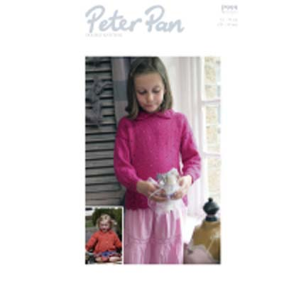 Peter Pan p999 Lace Edged Sweater and Cardigan
