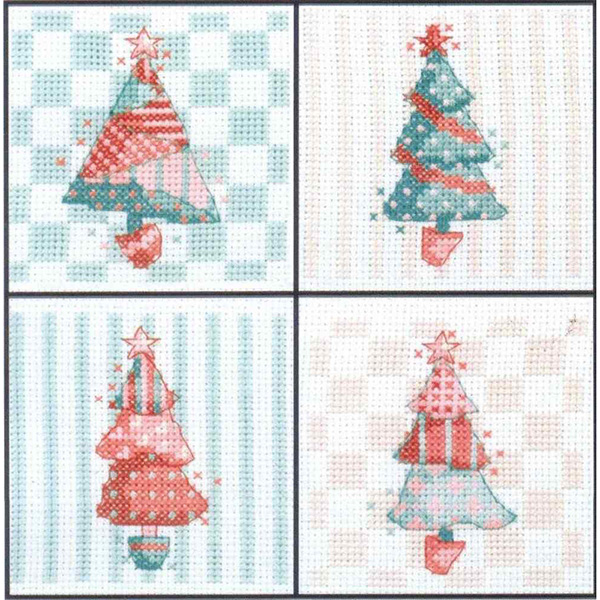 Cinnamon Cat, Patchwork Christmas Cards