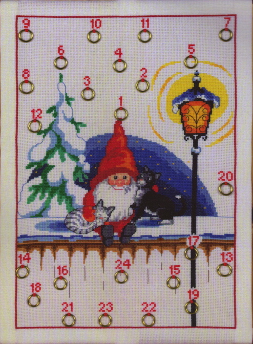 Permin Gnome with two Cats Advent Calendar