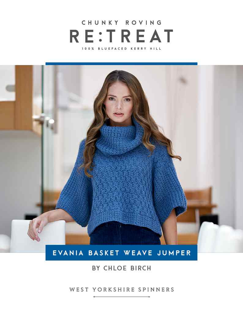 WYS Re:Treat Pattern - Evania Basket Weave Jumper by Chloe Birch
