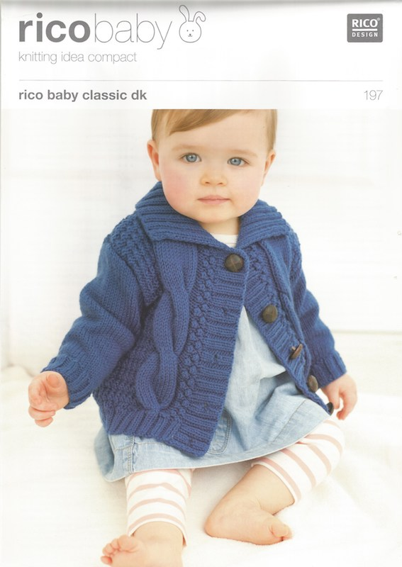 Rico Baby Classic DK Pattern 197 Babies Cardigans