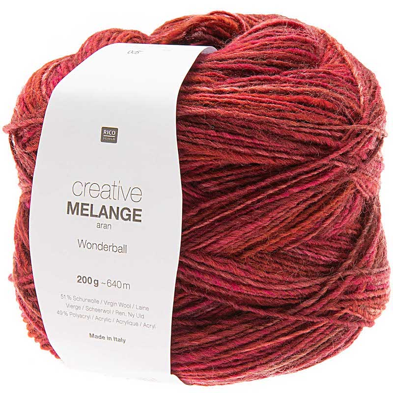 Rico Creative Melange Aran 005 Berry Mix