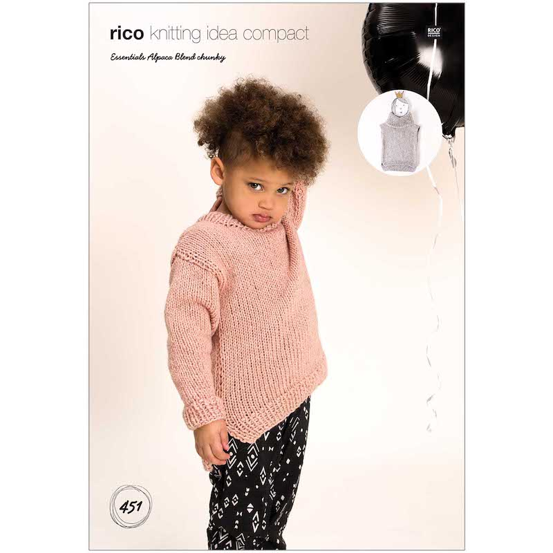 Rico Essential Alpaca Blend Chunky Pattern 451 Slipover/Sweater