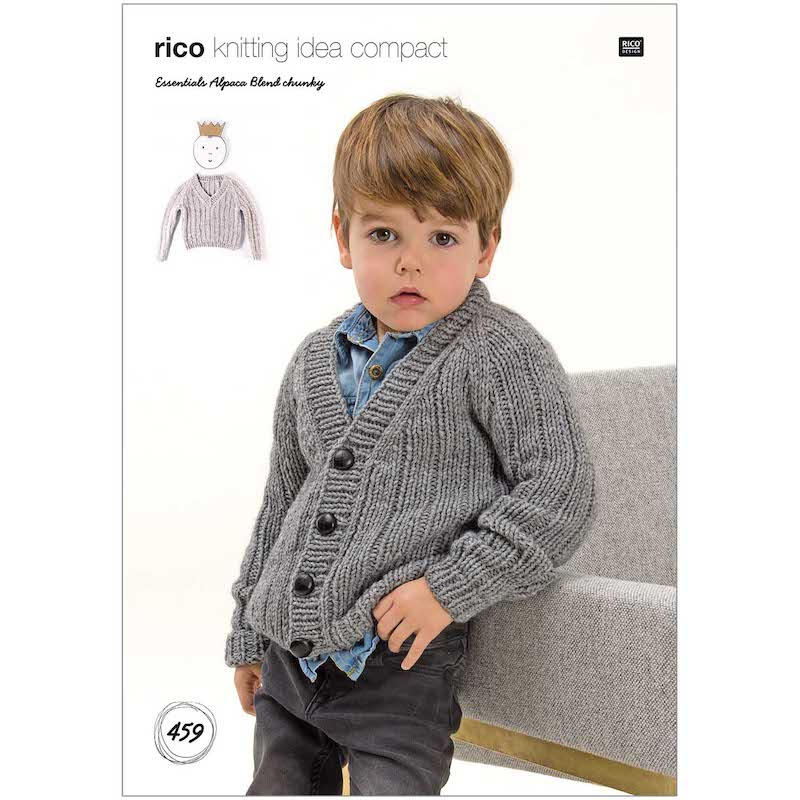 Rico Essential Alpaca Blend Chunky Pattern 459 Cardigan/Sweater