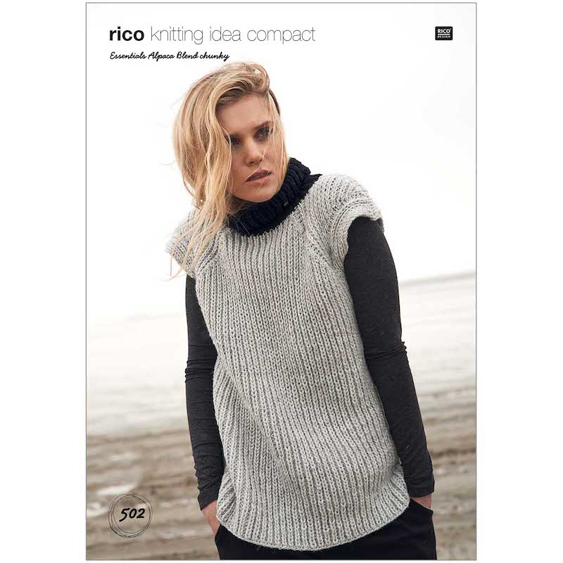 Rico Essential Alpaca Blend Chunky Pattern 502 Vest