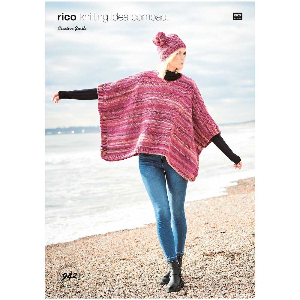 Rico Creative Smile 942 Ladies Poncho and Hat