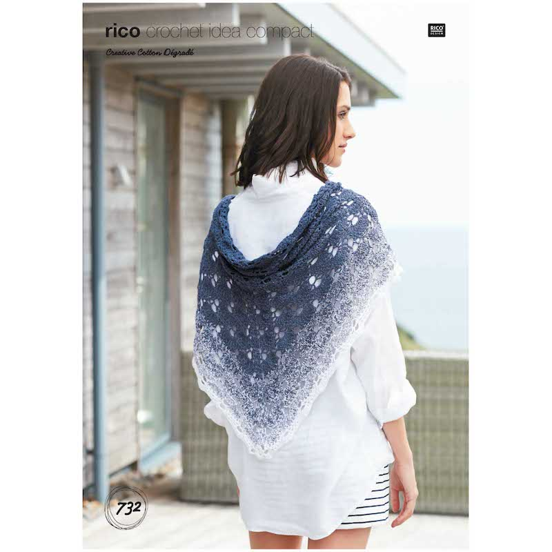 Rico Creative Cotton Degrade 732 Crochet Shawl