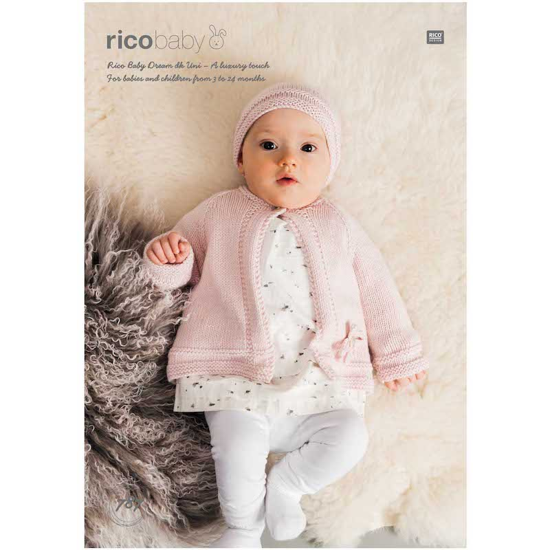 Rico Baby Dream Uni DK 787 Cardigan and Hat