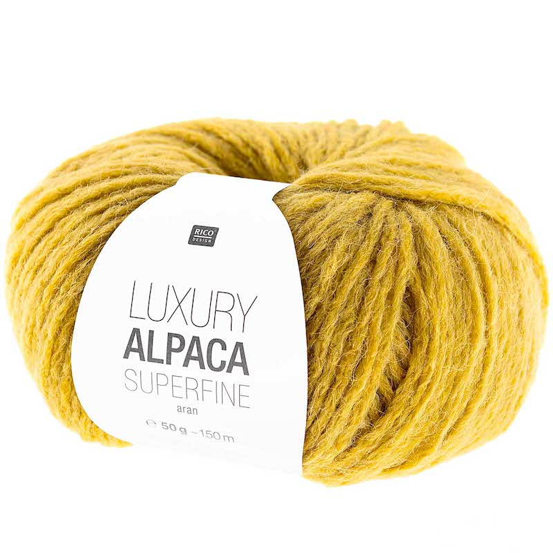 Rico Luxury Alpaca Superfine Aran 011 Mustard