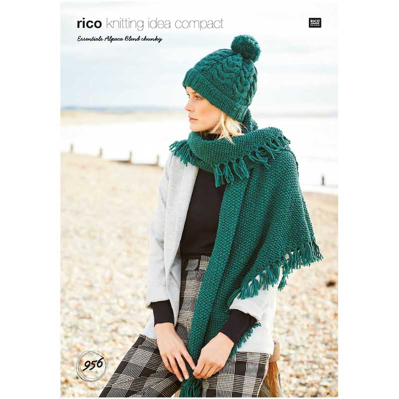 Rico Essential Alpaca Blend Chunky 956 Hat and Shawl