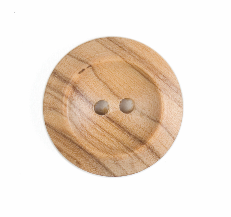 Wooden Round Button (Loose) 23mm