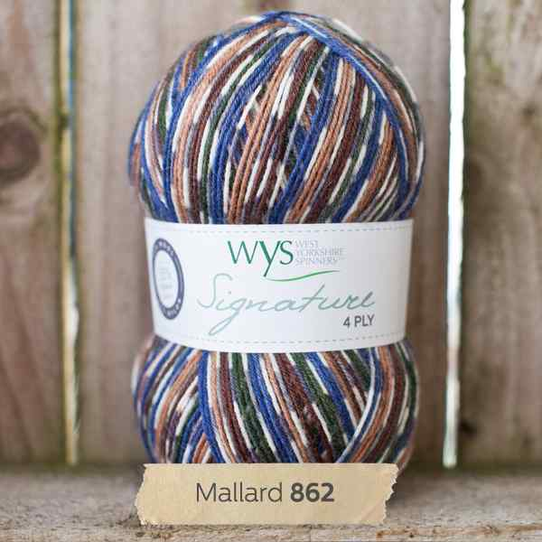 WYS Signature 4ply Country Birds Mallard 862