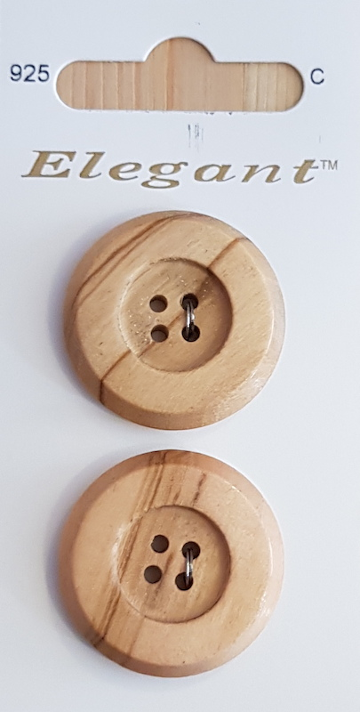 Sirdar Elegant Buttons B5611-0925 Large Wood 28mm