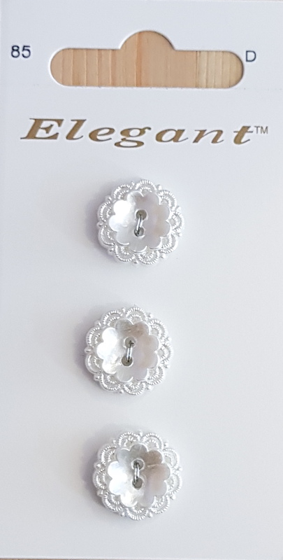 Sirdar Elegant Buttons B5611-0085 Pearlized White16mm