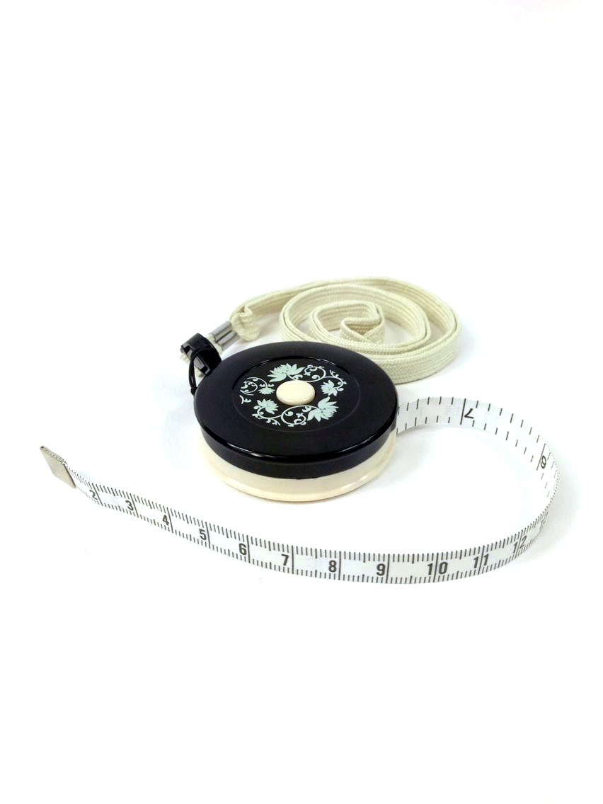 White Flower Tape Measure with Magnet