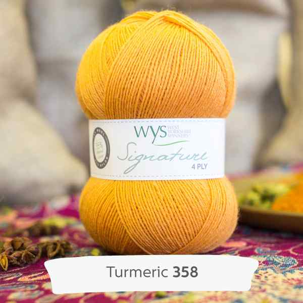 WYS Signature 4ply Spice Turmeric 358