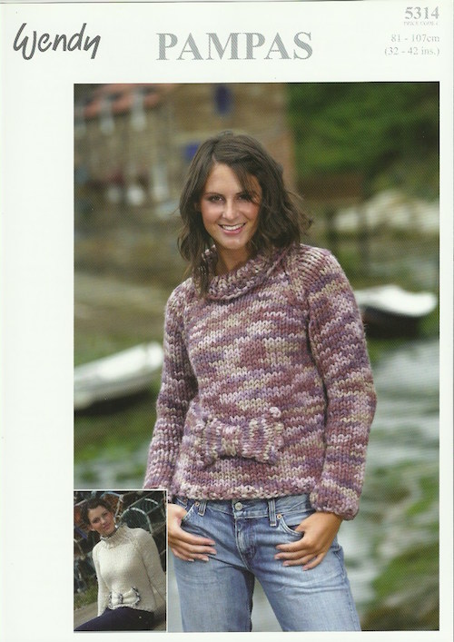 Wendy Pampas 5314 Sweater with Bow