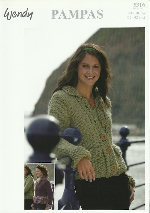 Wendy Pampas 5316 Moss Stitch Jacket