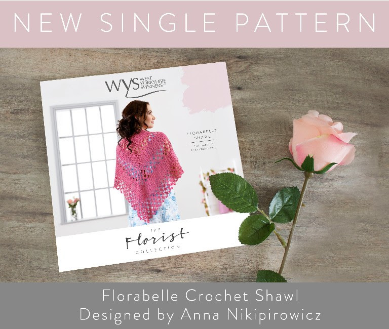 WYS The Florist Collection Florabelle Crochet Shawl Pattern