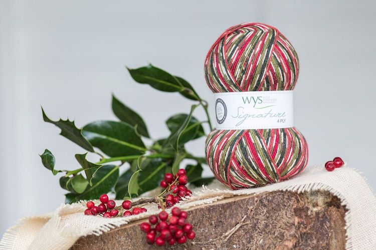 WYS Signature 4ply Country Birds HollyBerry