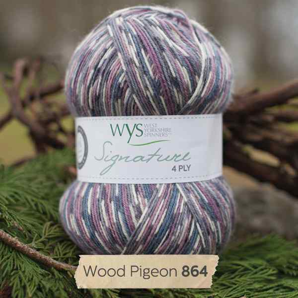 WYS Signature 4ply Country Birds Wood Pigeon 864