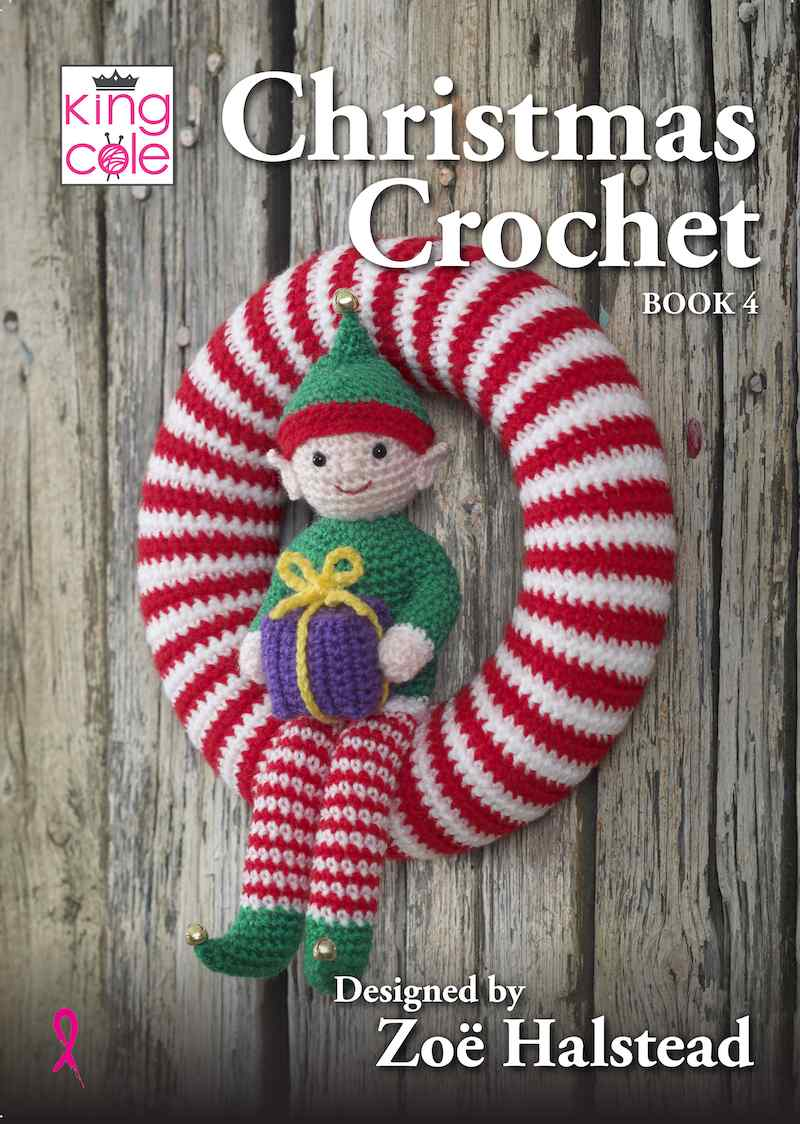 King Cole Christmas Crochet Book 4 designed by Zoe Halstead