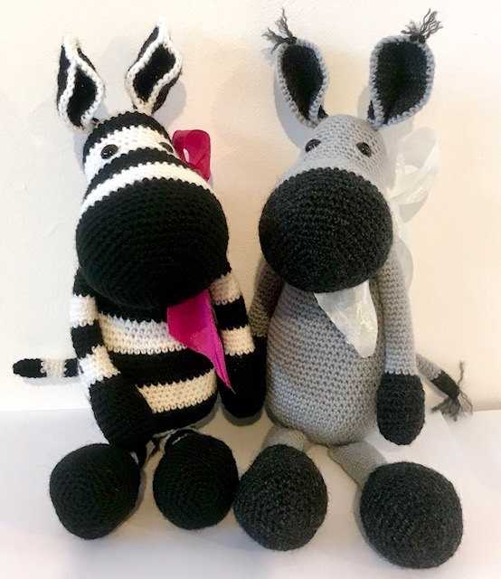 Douglas Donkey and Zena Zebra Crochet Pattern