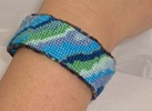 Cleopatra's Needle Stitch 56: Bracelet - Abstract Blue