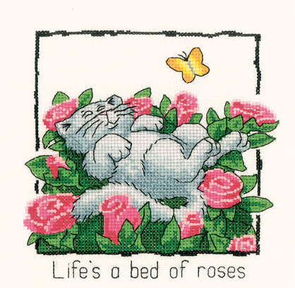 Cats Rule Life's a bed of roses