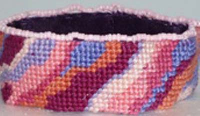 Cleopatra's Needle Stitch 56: Bracelet - Abstract Pink