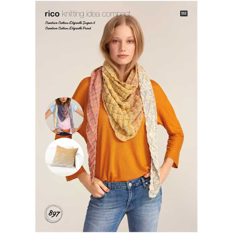 Rico Creative Cotton Degrade Super 6 - Shawl & Cushion 897