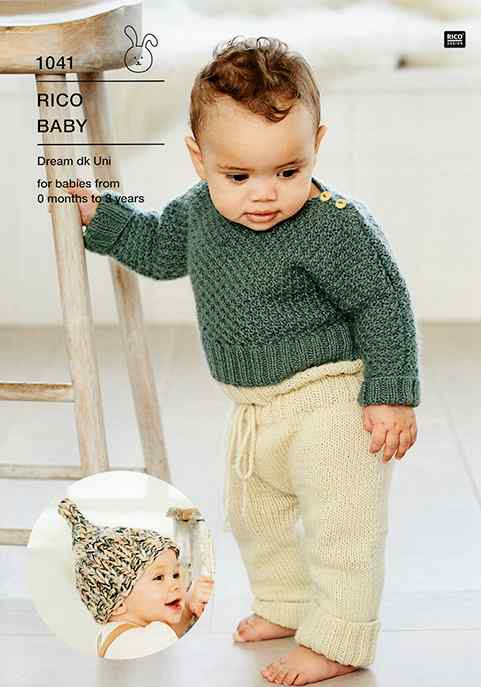Rico Baby Dream DK 1041 Babies Sweater, Leggings and Hat